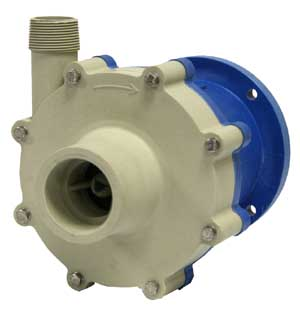 Promag, M Series, WMCP, Horizontal, Seal-Less, Mag-Drive, Thermoplastic, Centrifugal Pumps